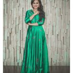 Shraddha Srinath, green dress, hd, wallpaper