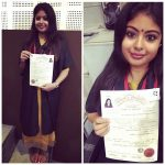 Shravanthi Sainath, Dhruva Natchathiram Actress, certificate