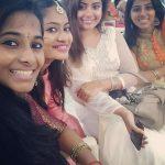 Shravanthi Sainath, friends, saree