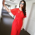 Surbhi, Voter Actress, red dress, modernistic