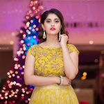 Surbhi, Voter Actress, yellow dress, cristmas