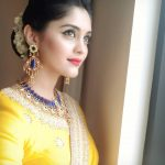 Surbhi, Voter Actress, yellow saree, current