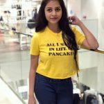 Suza Kumar, yellow dress, shopping