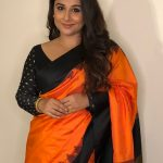 Vidya Balan, Mission Mangal Actress, orange saree, romantic
