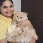 Vidyullekha Raman, Comedy Actress, cat, pet lover
