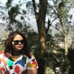 Vidyullekha Raman, outside, colour dress