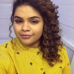 Vidyullekha Raman, yellow dress, new hair style