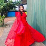 Yashika Aannand, instagram, red dress, hd, wallpaper