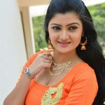 Akshitha, orange dress, cute