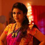 Alya Manasa, Raja Rani Serial Heroine, night, saree, spicy