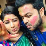 Alya Manasa, Raja Rani Serial Heroine, sanjeev, couple, husband
