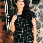 Alya Manasa, black dress, photo shoot