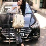Alya Manasa, car, bag