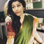 Alya Manasa, green saree, morning