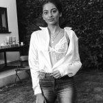 Banita Sandhu, Varma New Heroine, white dress, bw, cute