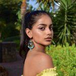 Banita Sandhu, Varma New Heroine, yellow dress, plants