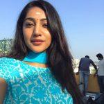 Bommu lakshmi, 90 ml actress, blue chudi