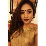Bommu lakshmi, 90 ml actress, brown saree, lipsstick