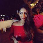 Bommu lakshmi, 90 ml actress, red dress, party