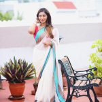 Bommu lakshmi, 90 ml heroine, Debut Actress, white saree