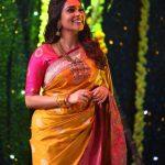 Kiki Vijay, saree, traditional look, Keerthi Shanthanu