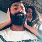 Kiki Vijay, shanthanu, husband and wife, beard