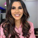 Nikki Tamboli, smile, pink dress