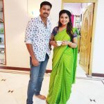 Sharanya Turadi, Green Saree, Vijay Tv