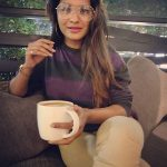 Sharanya Turadi, Run Serial, Sun Tv,  glass, coffee