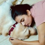Shree Gopika, 90 ml Heroine, dog, lying, bed