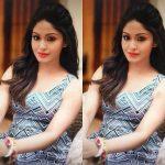 Shritha Sivadas, modern dress, makeup
