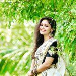 Shritha Sivadas, photoshoot, saree, Dhilluku Dhuddu 2 actress