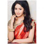 Shritha Sivadas, wallpaper, hd, saree, Dhilluku Dhuddu 2