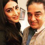 Shruti Haasan, father, selfie, hd, celebrity