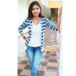 Venba, Maayanadhi Actress, modern dress, blue jean