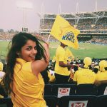 monisha ram, stadium, yellow dress