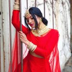 Chandrika Ravi, red dress, favorable