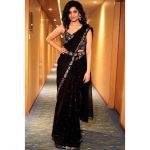 Ritika Singh, black saree
