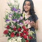 Sai Dhanshika, Vaalujada Actress,  flowers, beautiful