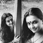 Saranya Mohan, black and white, aunty