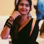 Soundarya Bala Nandakumar, yours shamefully 2 Heroine, black saree, event