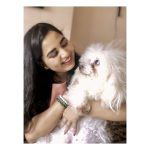 Srushti Dange, Lots Of Love Actress, dog, pet lover