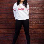 Srushti Dange, Pottu Actress, black pant