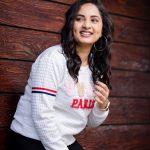 Srushti Dange, Pottu Actress, white t shirt