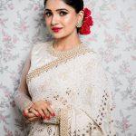 Vani Bhojan, white saree