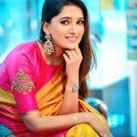 Vani Bhojan, yellow saree, treditional