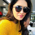 Vani Bhojan, yellow t shirt, black coolers