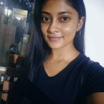 Ammu Abhirami, no makeup, black dress, asuran